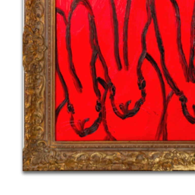 RED FOREPLAY - Red Animal Painting by Hunt Slonem