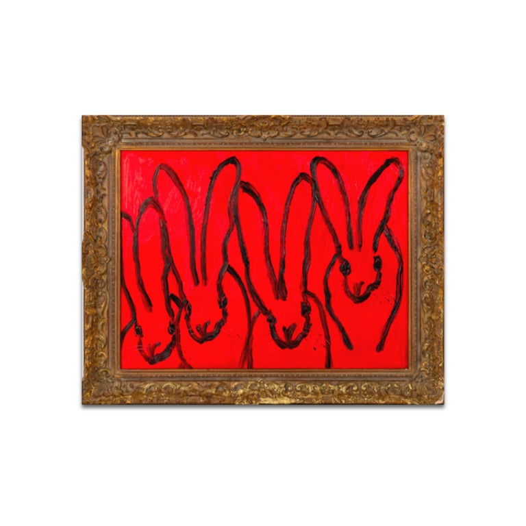Hunt Slonem Animal Painting - RED FOREPLAY