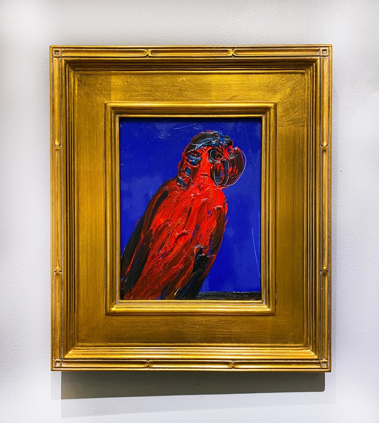 Red Lory - Painting by Hunt Slonem