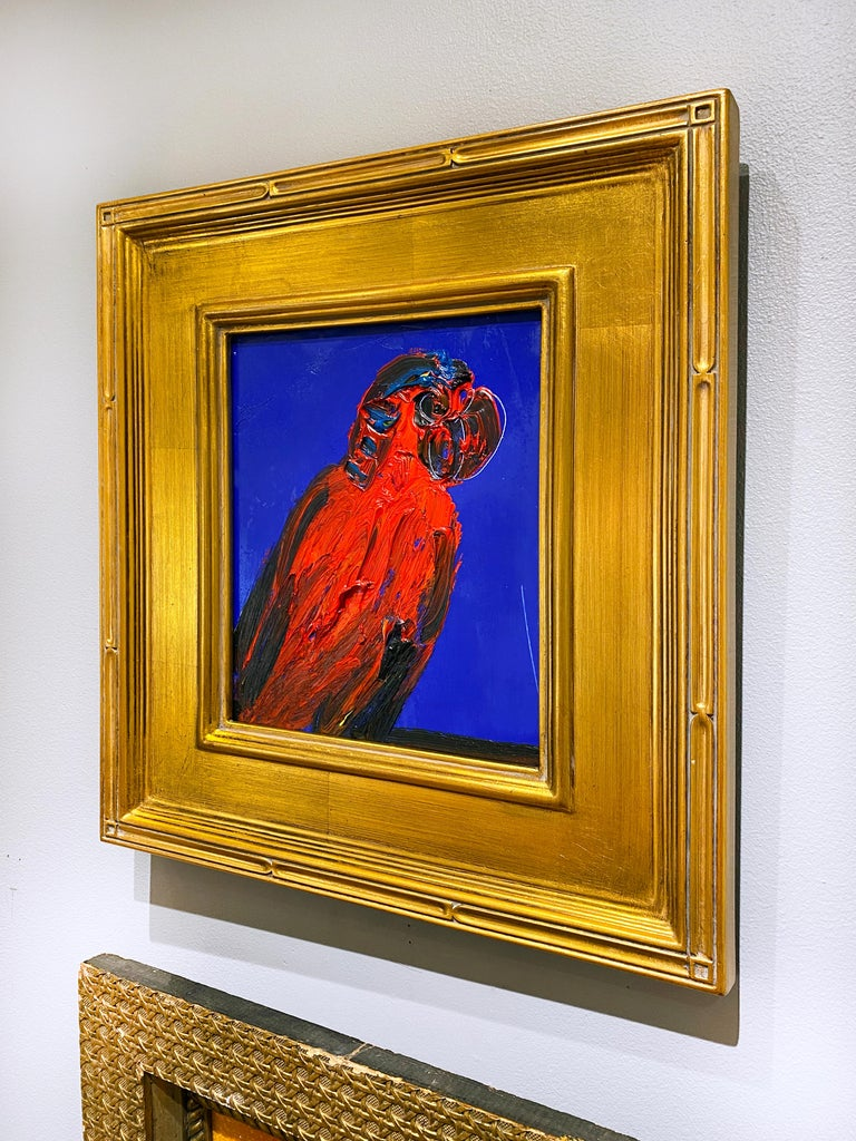 Red Lory - Contemporary Painting by Hunt Slonem