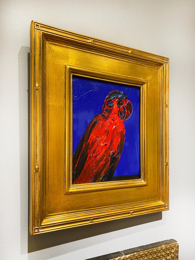 Red Lory - Orange Animal Painting by Hunt Slonem