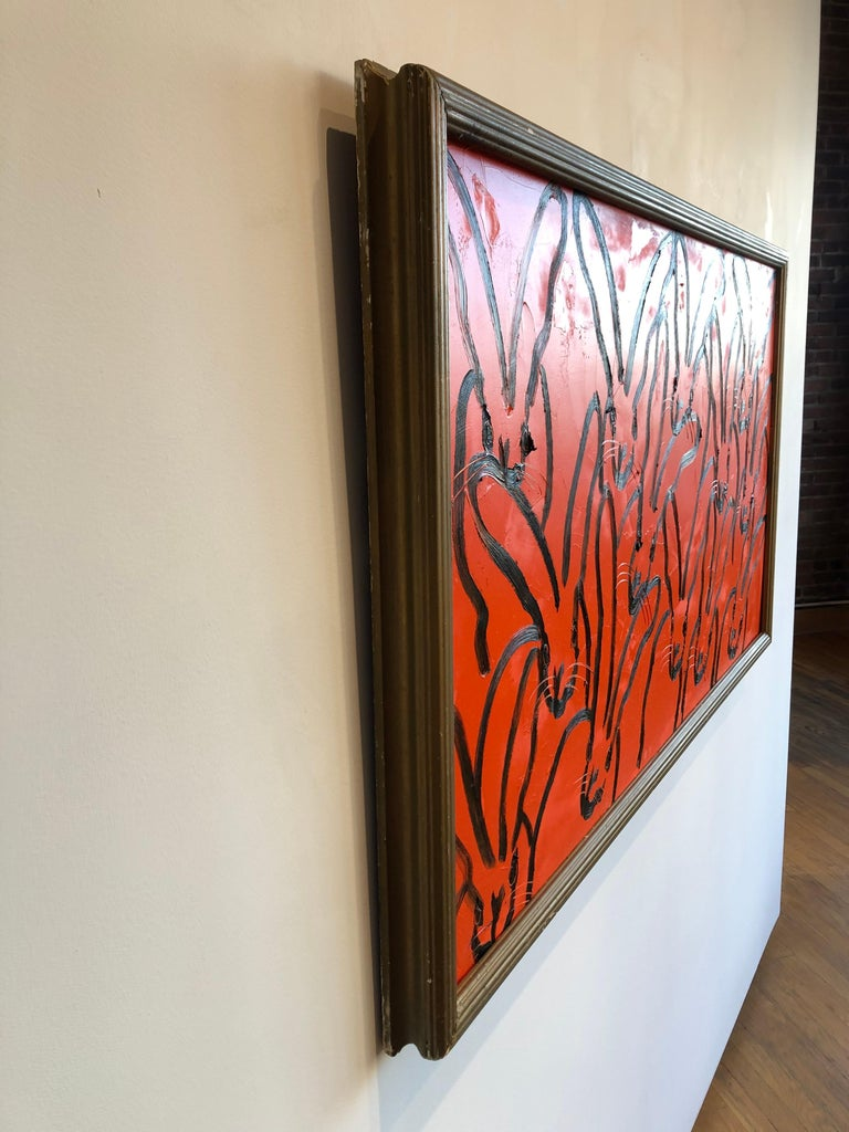 Red Rabbit - Painting by Hunt Slonem