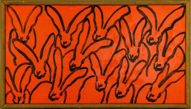 Hunt Slonem Animal Painting - Red Rabbit