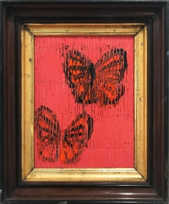 """Red Rover"" (Black Butterflies on Red Background with Scoring)"