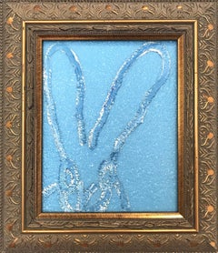 """Saphire"" (Diamond Dust Bunny on Light Blue)"
