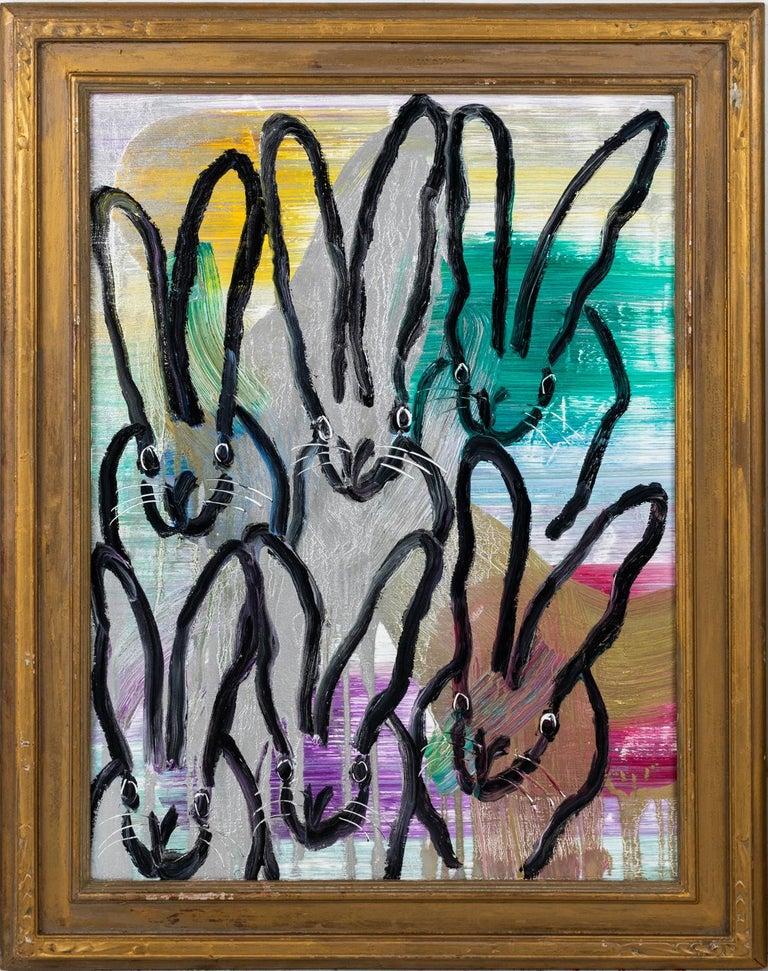 Hunt Slonem Animal Painting - Six More