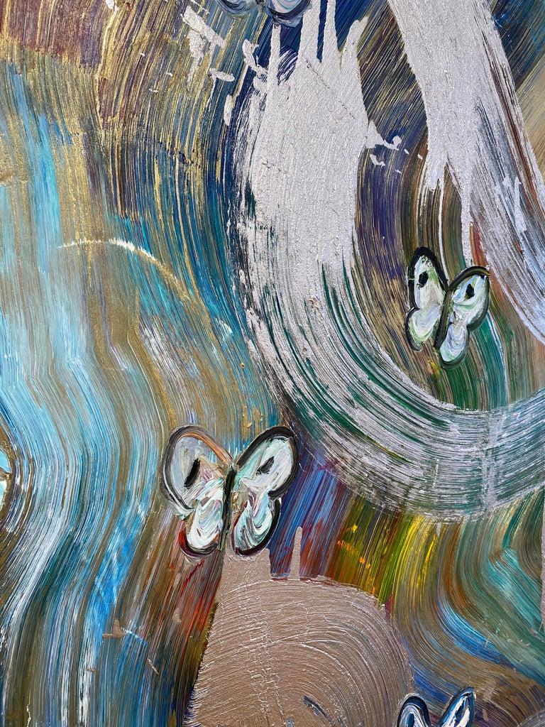 Artist:  Slonem, Hunt Title:  The Wind Series:  Butterflies Date:  2020 Medium:  Oil on canvas Unframed Dimensions:  60