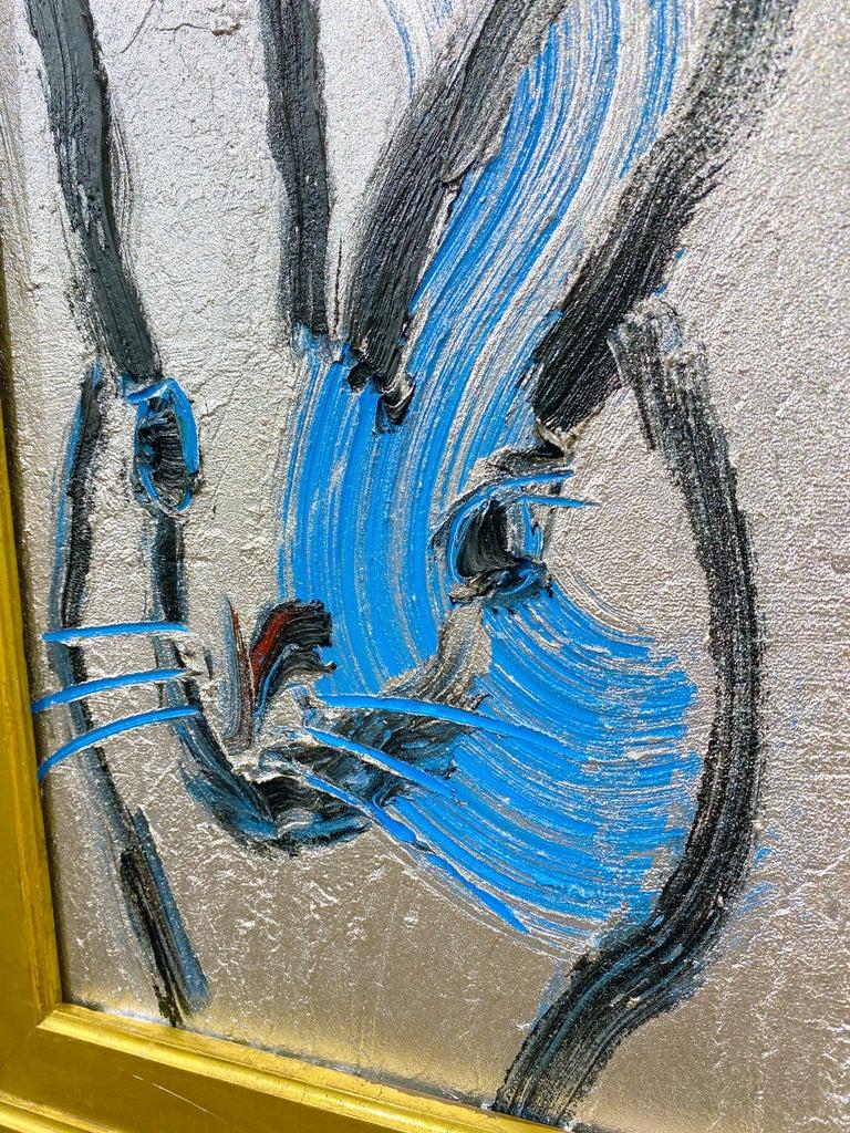 Tim - Beige Animal Painting by Hunt Slonem