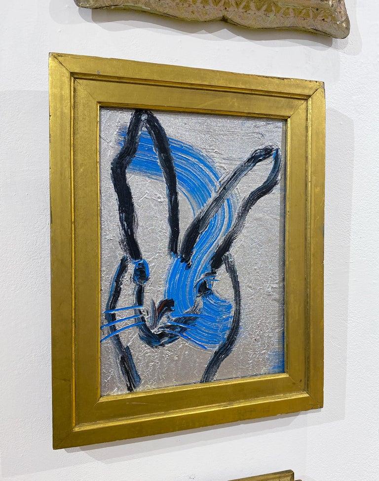 Artist:  Slonem, Hunt Title:  Tim Series:  Bunnies Date:  2021 Medium:  Oil on panel Unframed Dimensions:  14