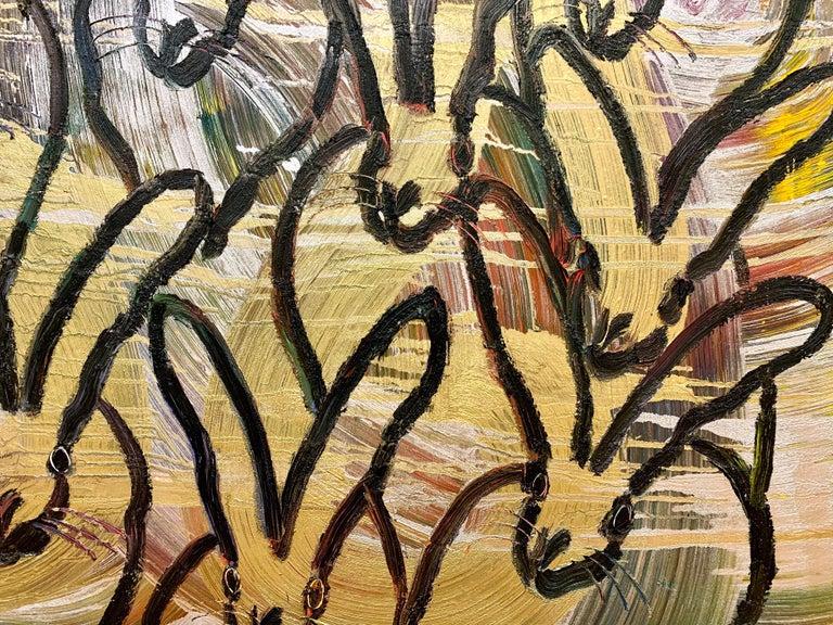 Artist:  Slonem, Hunt Title:  Totem Tango Series:  Bunnies Date:  2020 Medium:  Oil on panel Unframed Dimensions:  34