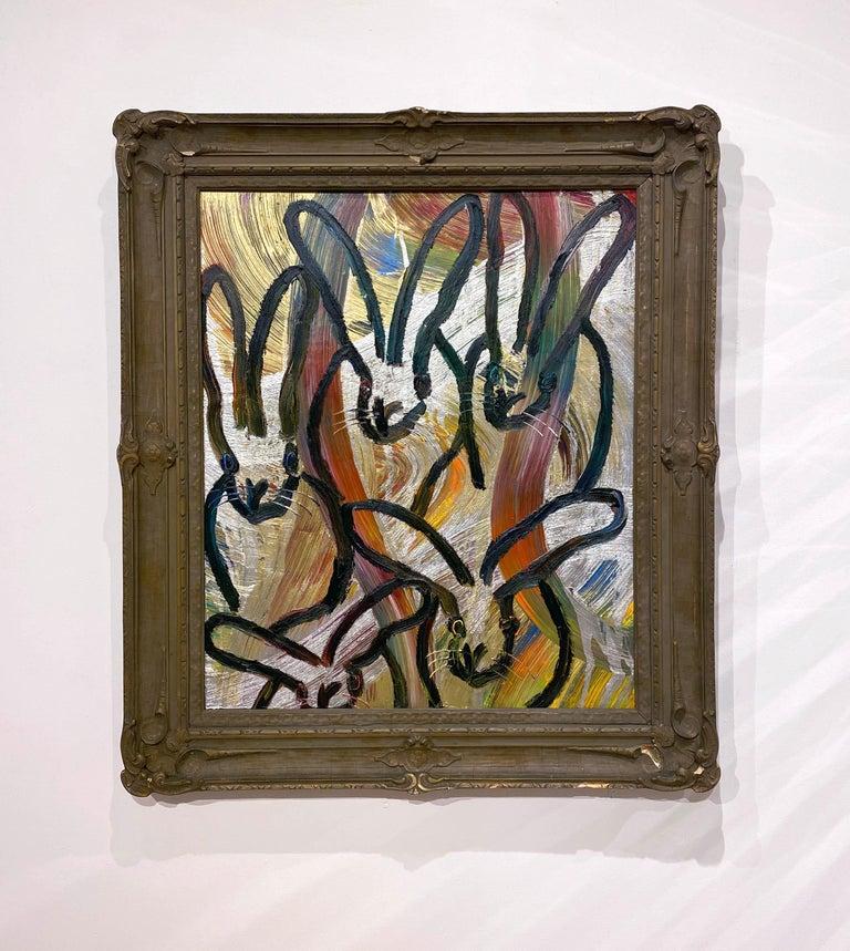 Totem Tribute 2 - Painting by Hunt Slonem