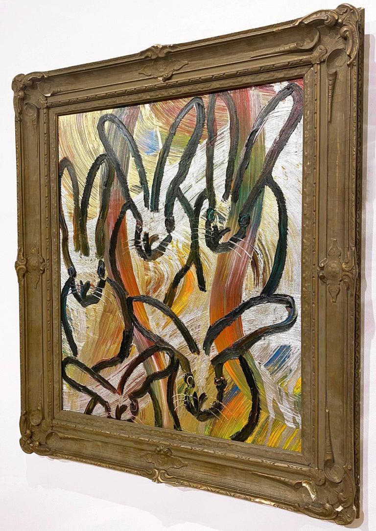 Artist:  Slonem, Hunt Title:  Totem Tribute 2 Series:  Bunnies Date:  2020 Medium:  Oil on panel Unframed Dimensions:  30.5