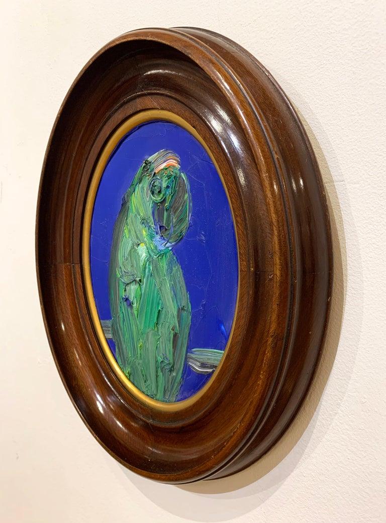 Artist:  Slonem, Hunt Title:  Untitled (Bird) Date:  2017 Medium:  Oil on panel Unframed Dimensions:  10 x 8