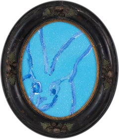 Untitled (Blue Bunny Oval)
