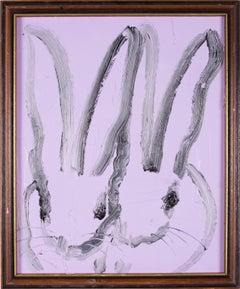 Hunt Slonem Untitled Purple Double Bunnies