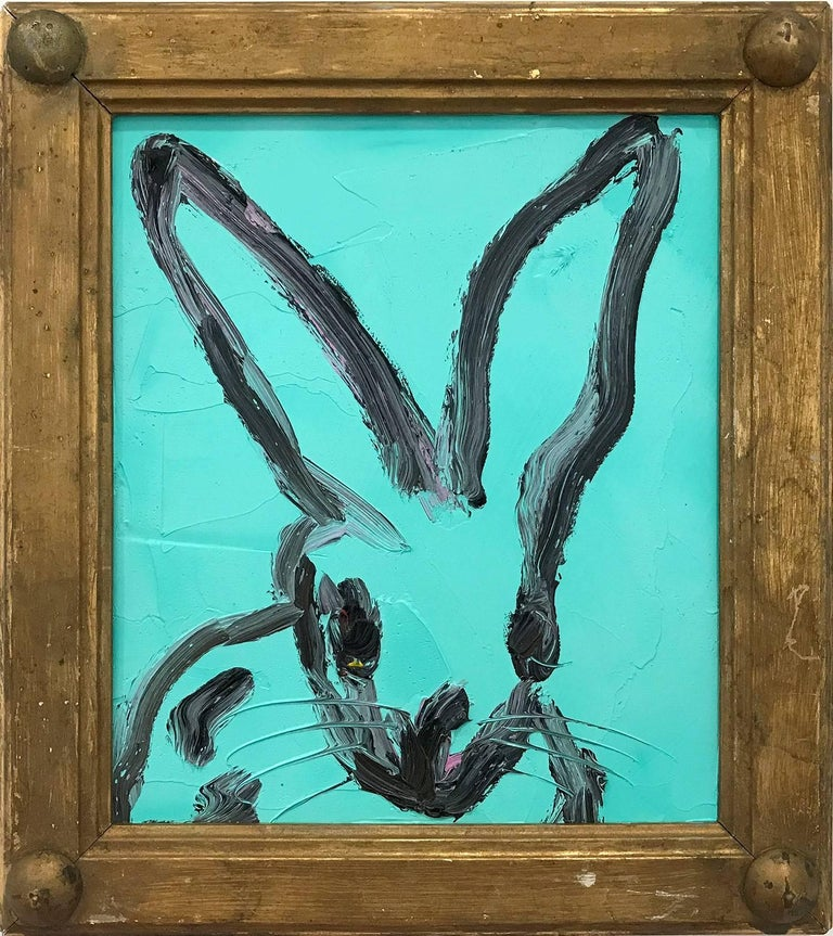 Untitled (Bunny on Turquoise)