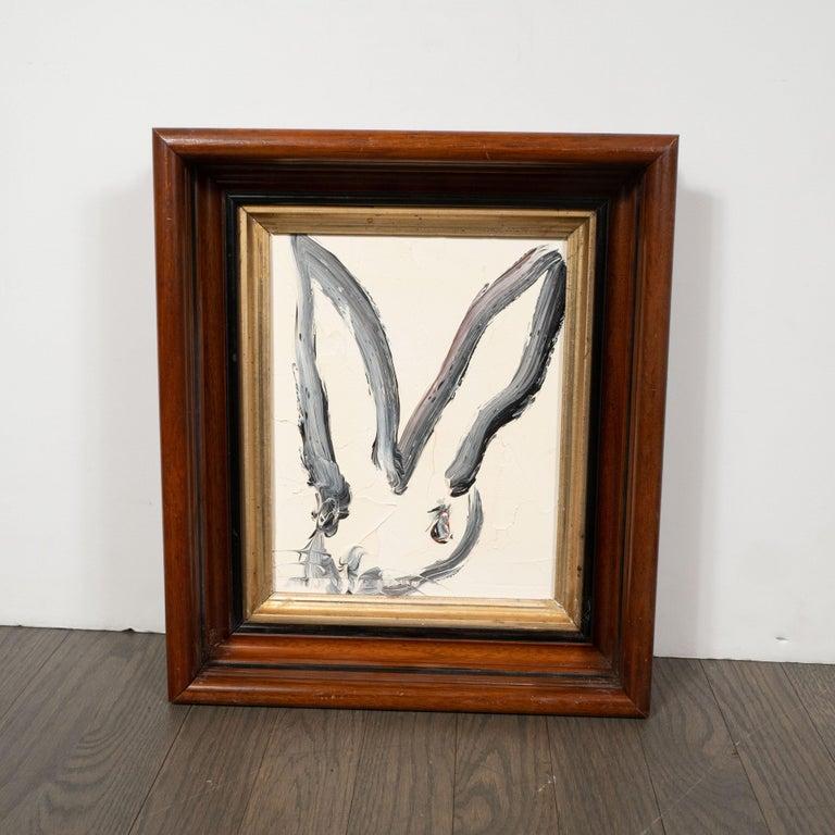 Hunt Slonem Animal Painting - Untitled (Bunny Paintiing) ATC691