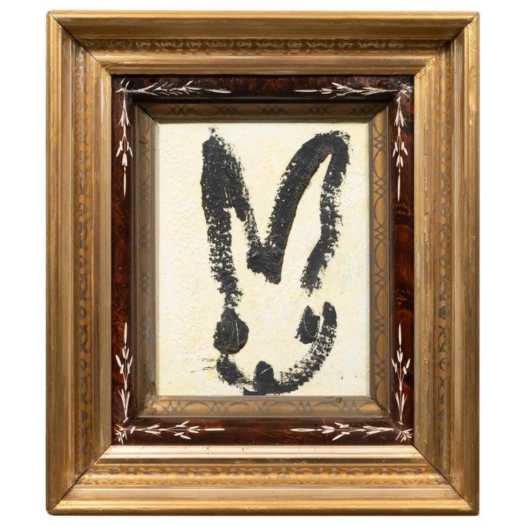 Hunt Slonem Animal Painting - Untitled (Bunny Painting) CS1073