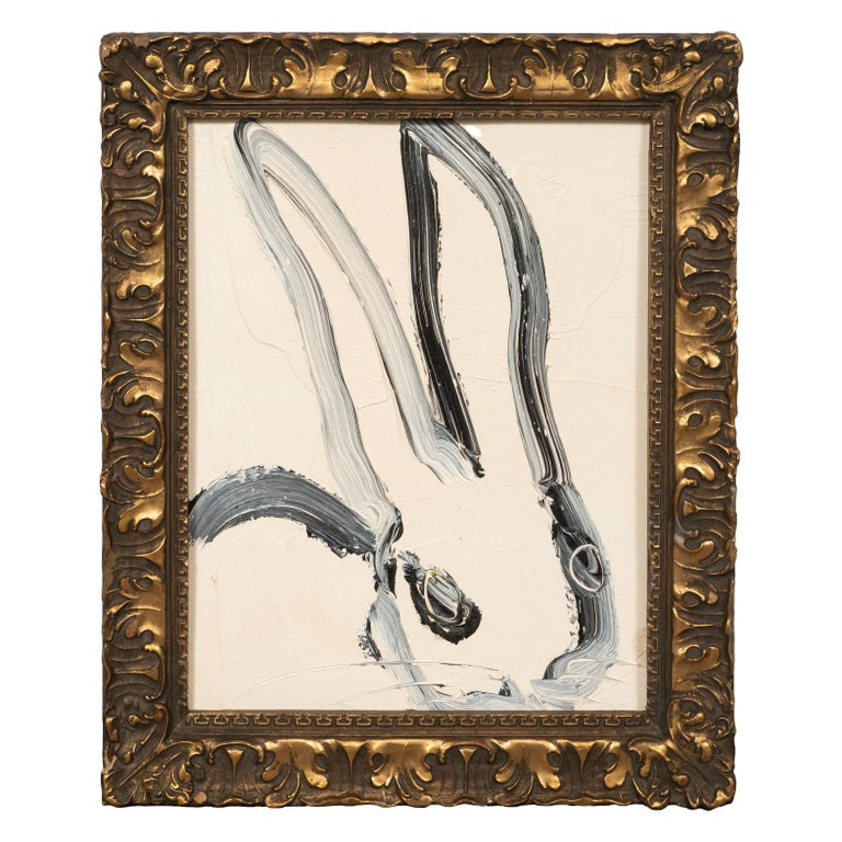 Hunt Slonem Abstract Painting - Untitled (Bunny Painting) CS1097