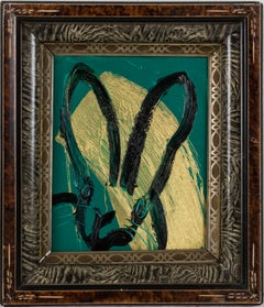 Untitled Green/Gold Bunny