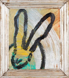 Untitled (Multicolored Bunny on Gold and Silver)