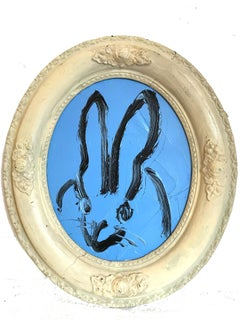 Untitled (Oval Bunny on Azure Blue)