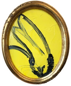 Untitled (Oval Bunny on Yellow)