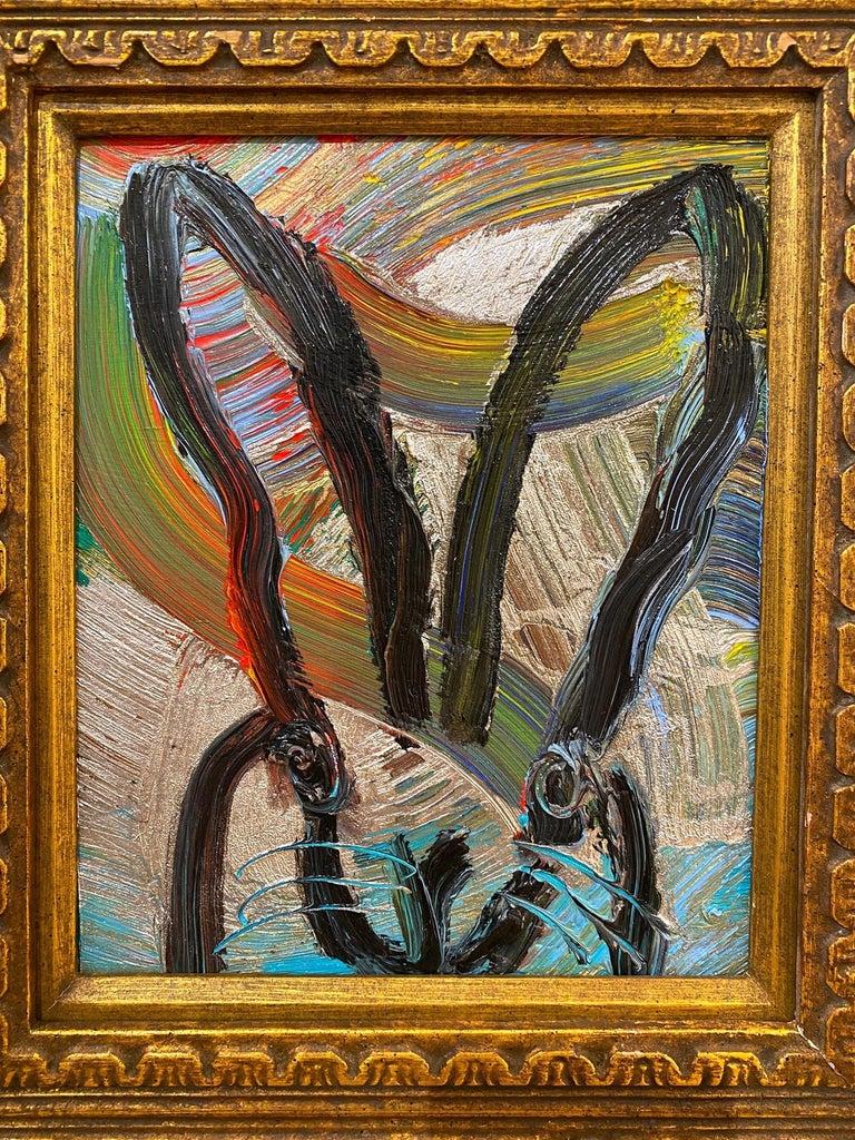 Artist:  Slonem, Hunt Title:  Untitled (Rainbow Bunny) Series:  Bunnies Date:  2021 Medium:  Oil on panel Unframed Dimensions:  10