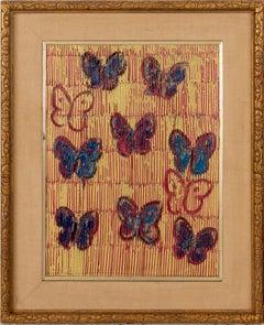 Untitled (Red, Blue & Purple Butterflies)