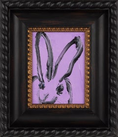 Untitled- small gestural bunny by Hunt Slonem