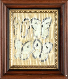 """Untitled (White butterflies on Metallic Gold (White Ascension) Oil Painting"