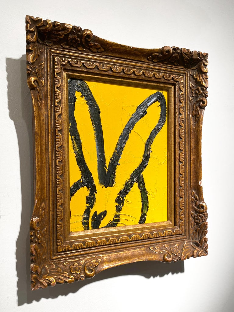 Untitled (Yellow Bunny) - Contemporary Painting by Hunt Slonem