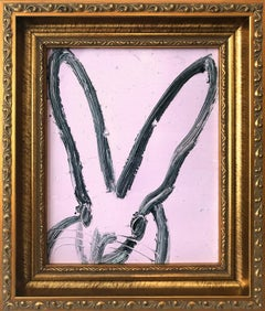 """Viola"" (Bunny on Light Lavender Background) Oil Painting on Wood Panel"