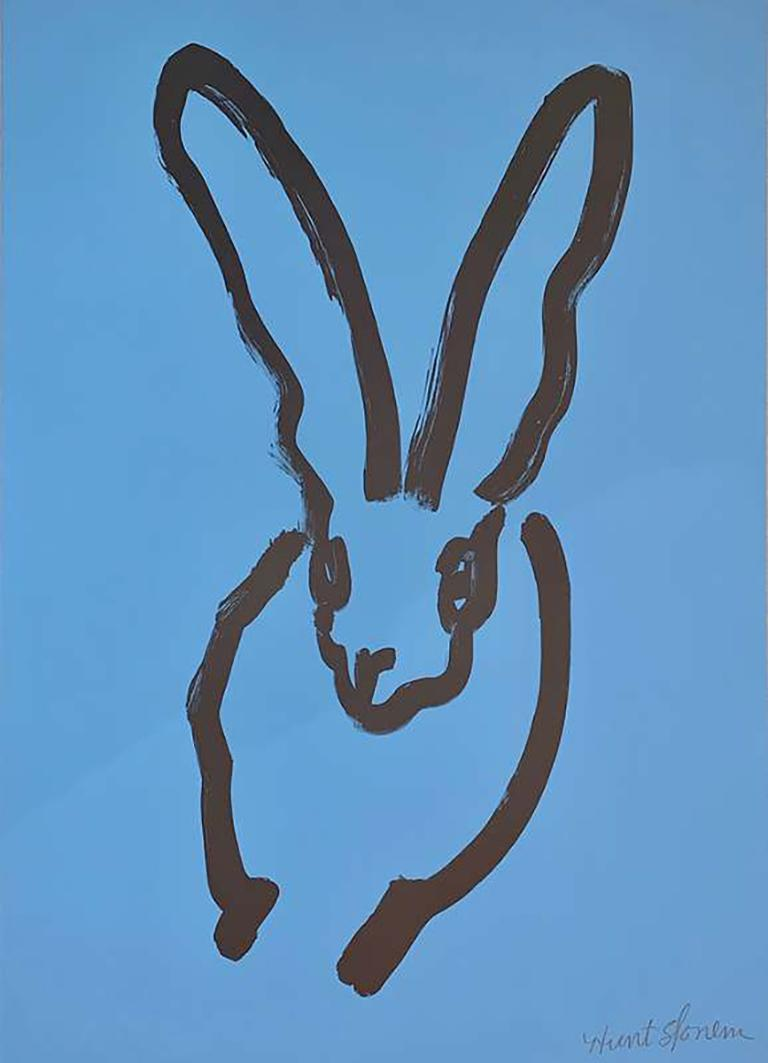 Blue Bunny - Contemporary Print by Hunt Slonem