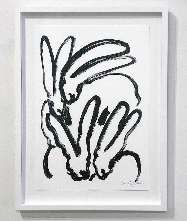 BW Bunny 2 - Contemporary Print by Hunt Slonem