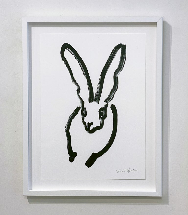 Artist:  Slonem, Hunt Title:  BW Bunny 3 Series:  Bunnies Date:  2018 Medium:  Lithograph on Paper Unframed Dimensions:  24