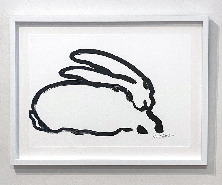 BW Bunny 6 - Contemporary Print by Hunt Slonem