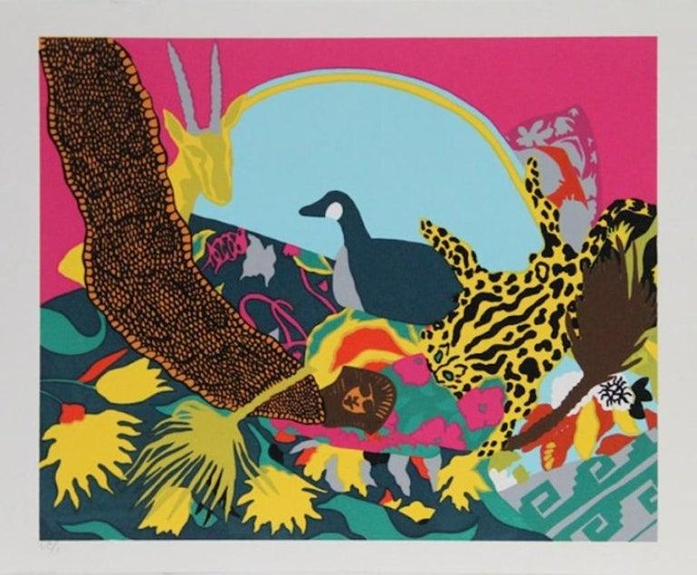 "Hunt Slonem, ""Spell III, 1981,"" Pop Art Screenprint  - Print by Hunt Slonem"