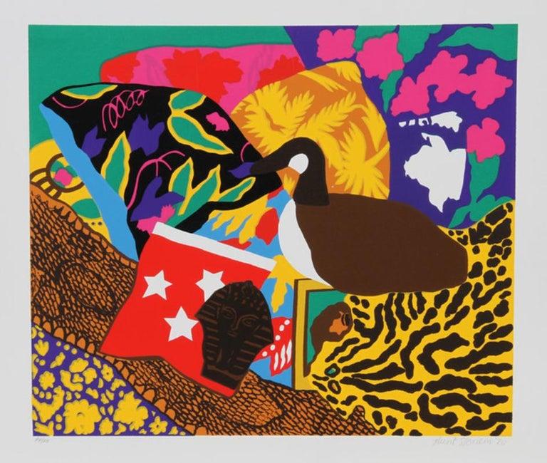 """Hunt Slonem, """"Three Stars, 1980,"""" Pop Art Screenprint - Print by Hunt Slonem"""