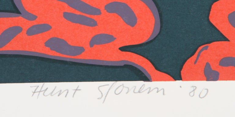 Pocahontas Pillow, Pop Art Serigraph by Hunt Slonem For Sale 1