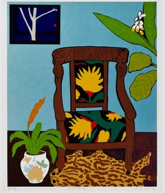 """Shell Ginger,"" Color Serigraph Still Life signed by Hunt Slonem"