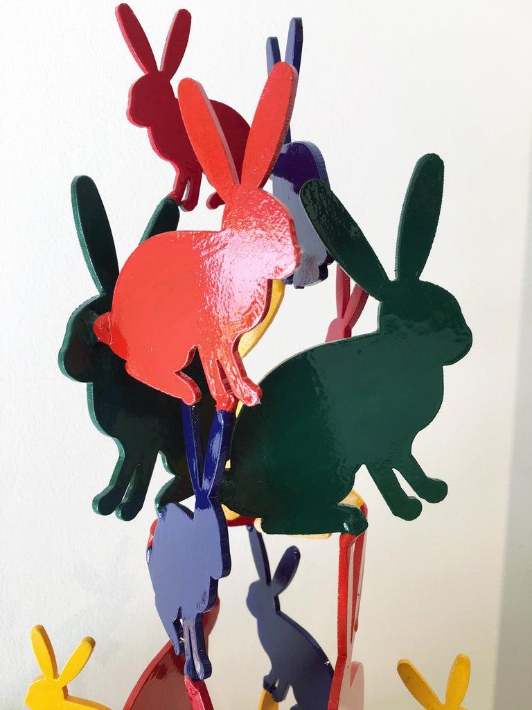 Hunt Slonem Bunnies aluminum sculpture 'Untitled' For Sale 3