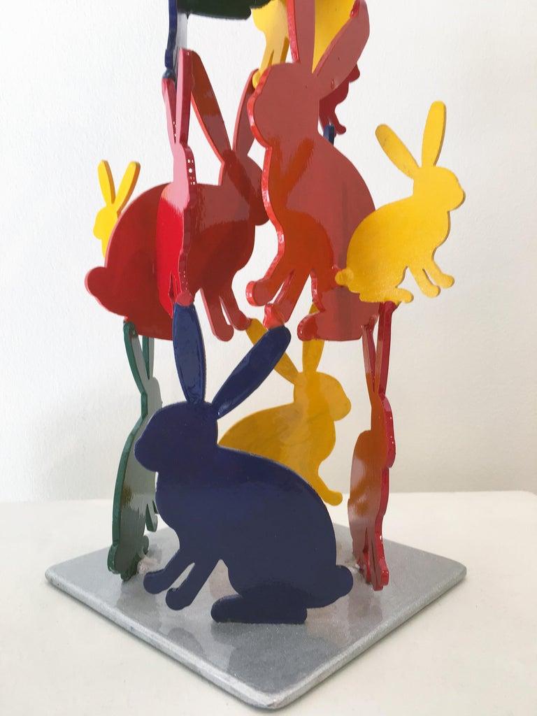 Hunt Slonem Bunnies aluminum sculpture 'Untitled' For Sale 4