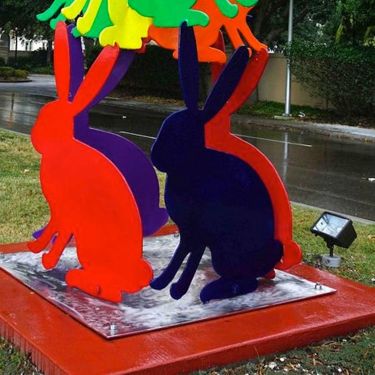 outdoor sculpture, dimensions and colors variable