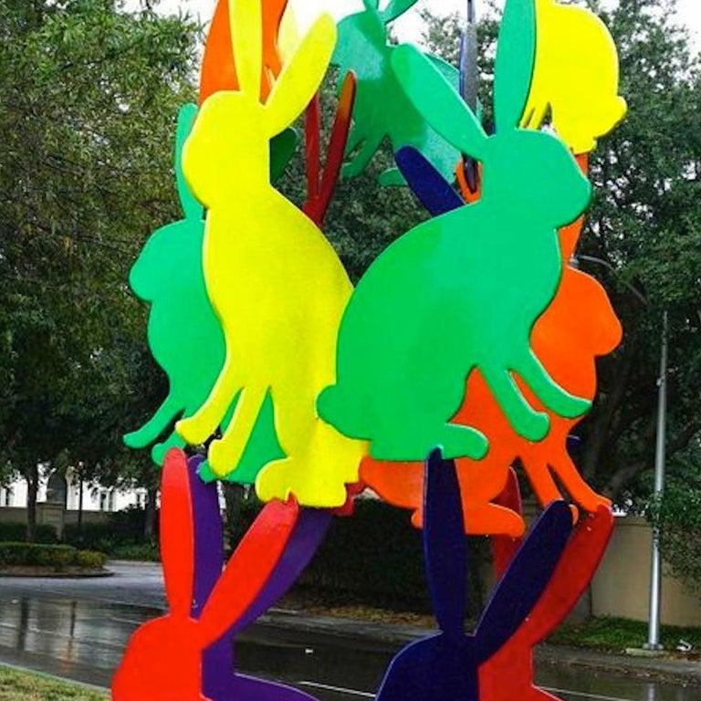 Outdoor bunny sculpture For Sale 1