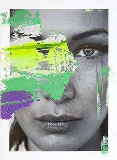 Bella Neon, 2017, Acrylic on glicée print