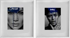 Diptych: Pride -Jennifer Lopez and Now- Bruno Mars, Unique Photo collage