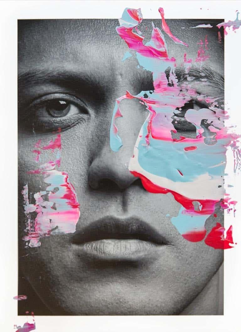 Diptych: Weifang Sun and Bruno Mars, One of a kind photo collage - Photograph by Hunter & Gatti