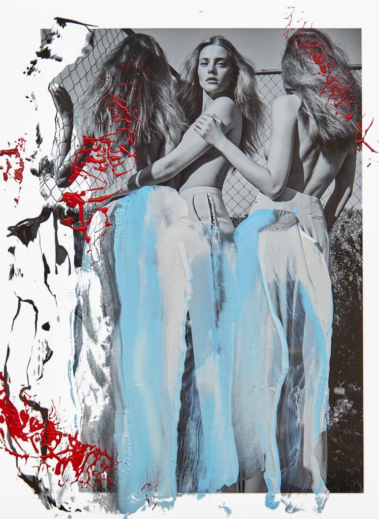 Maiol Nymphs, 2017, Acrylic On Gliceée Print