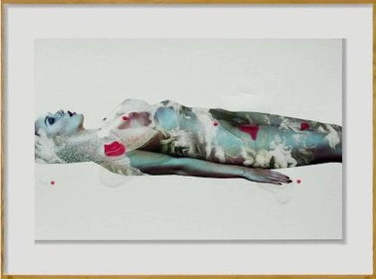 Hunter & Gatti Nude Photograph - Muse Series #2, One of a Kind Mixed Media Framed